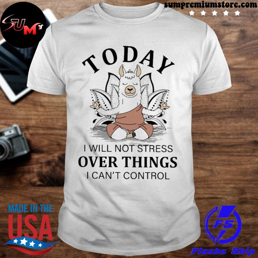 Llama Yoga to day i will not stress over things i can't control shirt