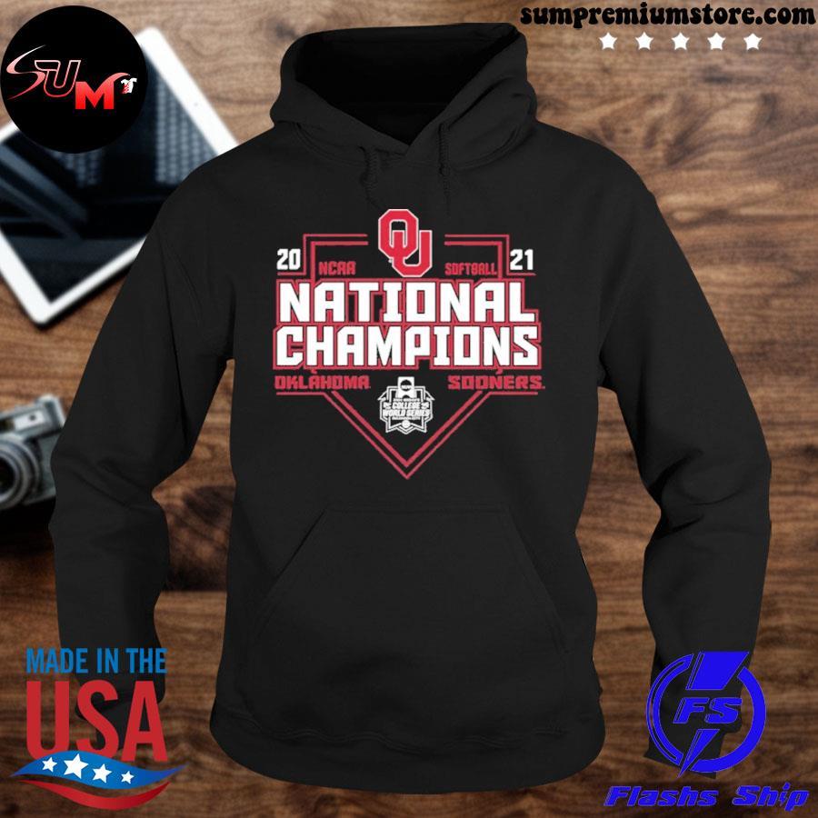 Official 2021 oklahoma sooners ncaa softball world series champions tee s hoodie-black