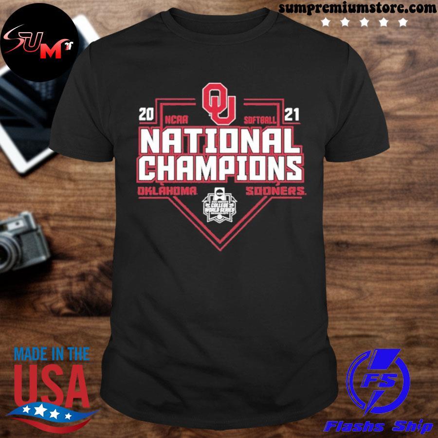 Official 2021 oklahoma sooners ncaa softball world series champions tee shirt