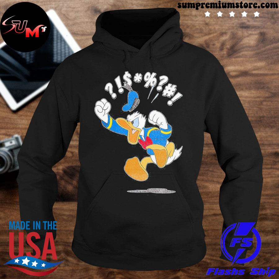 Official disney mickey and friends donald angry jump s hoodie-black