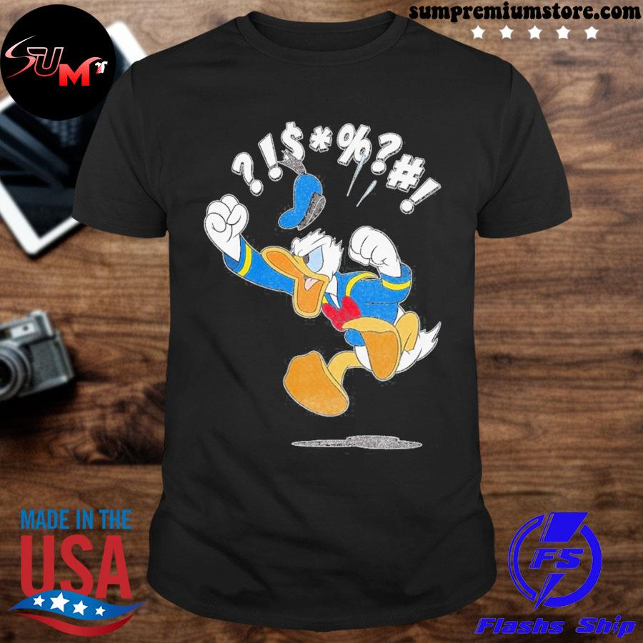 Official disney mickey and friends donald angry jump shirt