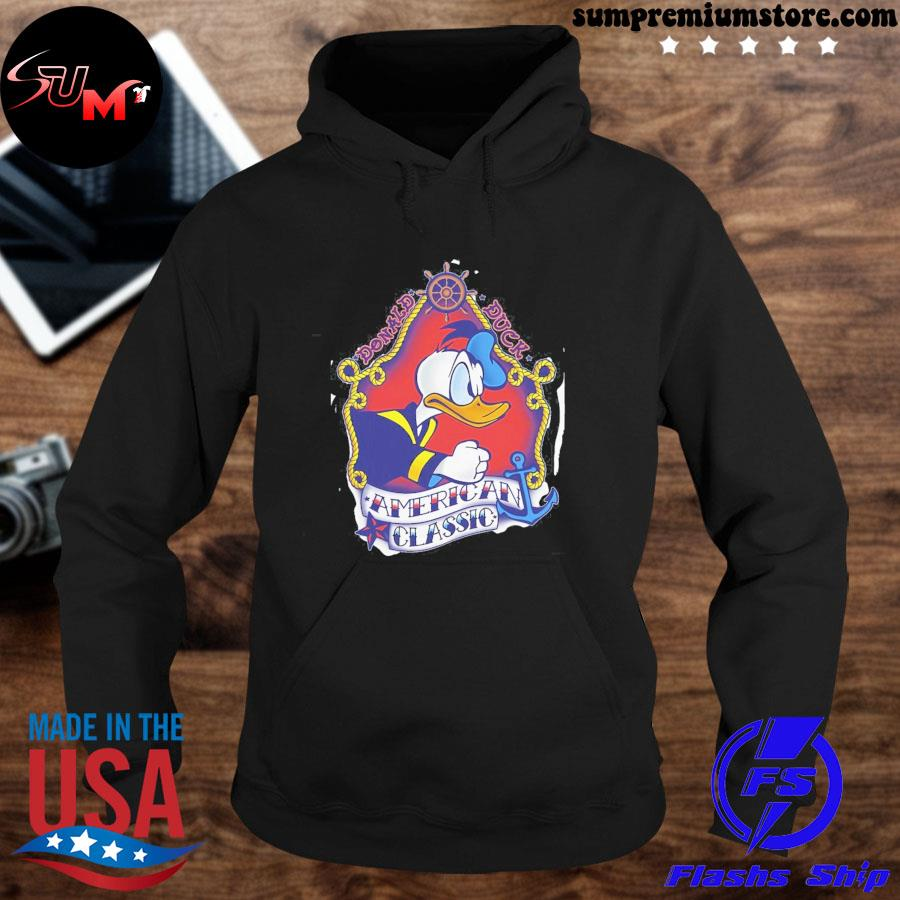 Official disney mickey and friends donald duck american s hoodie-black