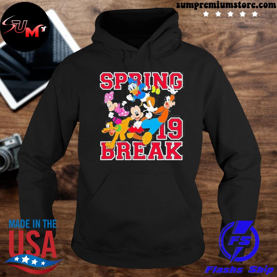 Official disney mickey mouse and friends spring break s hoodie-black