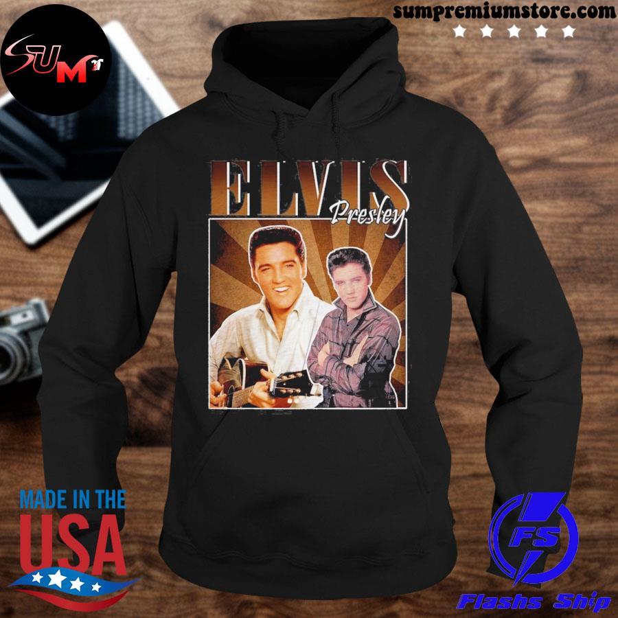 Official elvis presley fans s hoodie-black