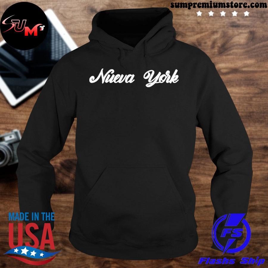 Official funny nueva york new york retro style vintage spanish s hoodie-black