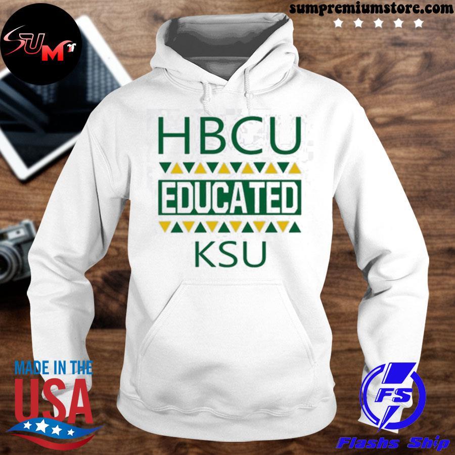 Official hbcu educated ksu s hoodhie-white