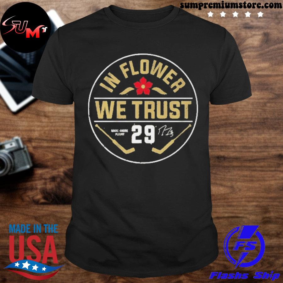 Official marc-andré fleury in flower we trust 2021 tshirt