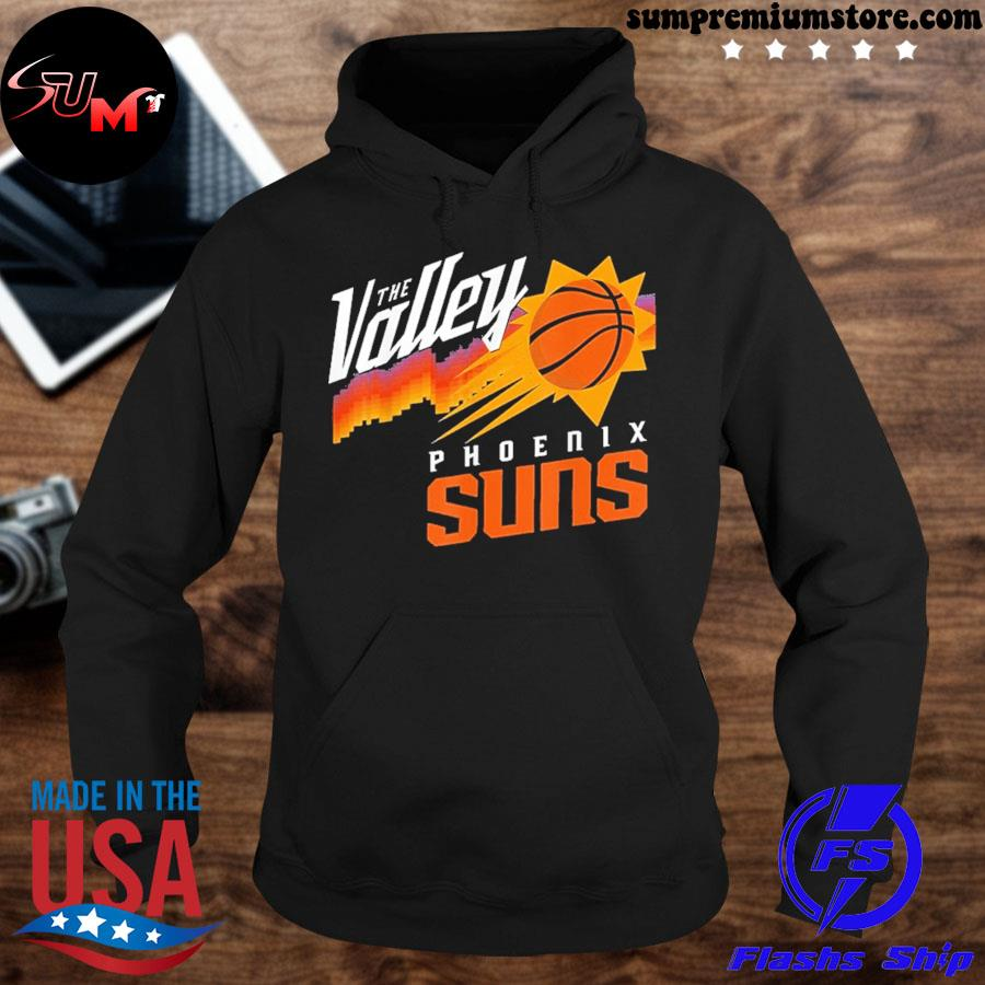 Official phoenixes suns maillot the valley city jersey 2021 s hoodie-black