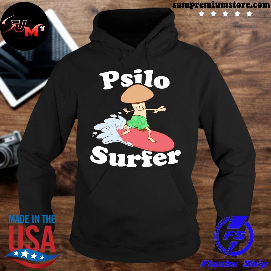 Official psilocybin magic mushroom psilo surfer for mushroom growers and psychonauts s hoodie-black