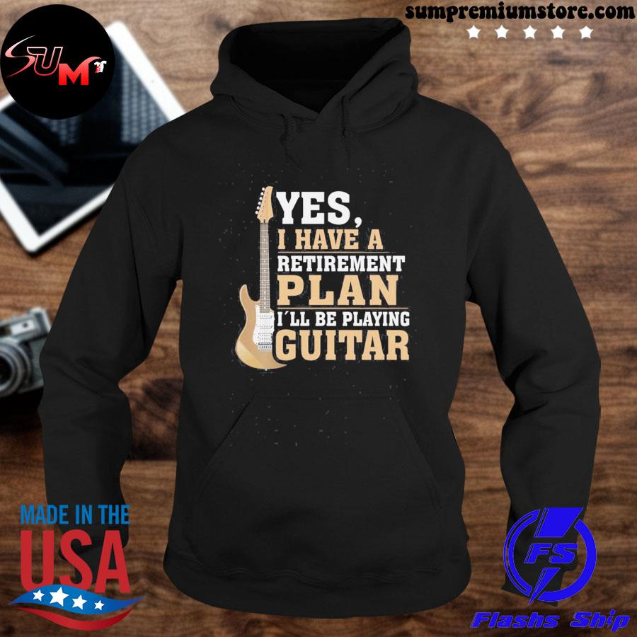 Official retired guitar player shirt rock and roll fathers day us 2021 t s hoodie-black