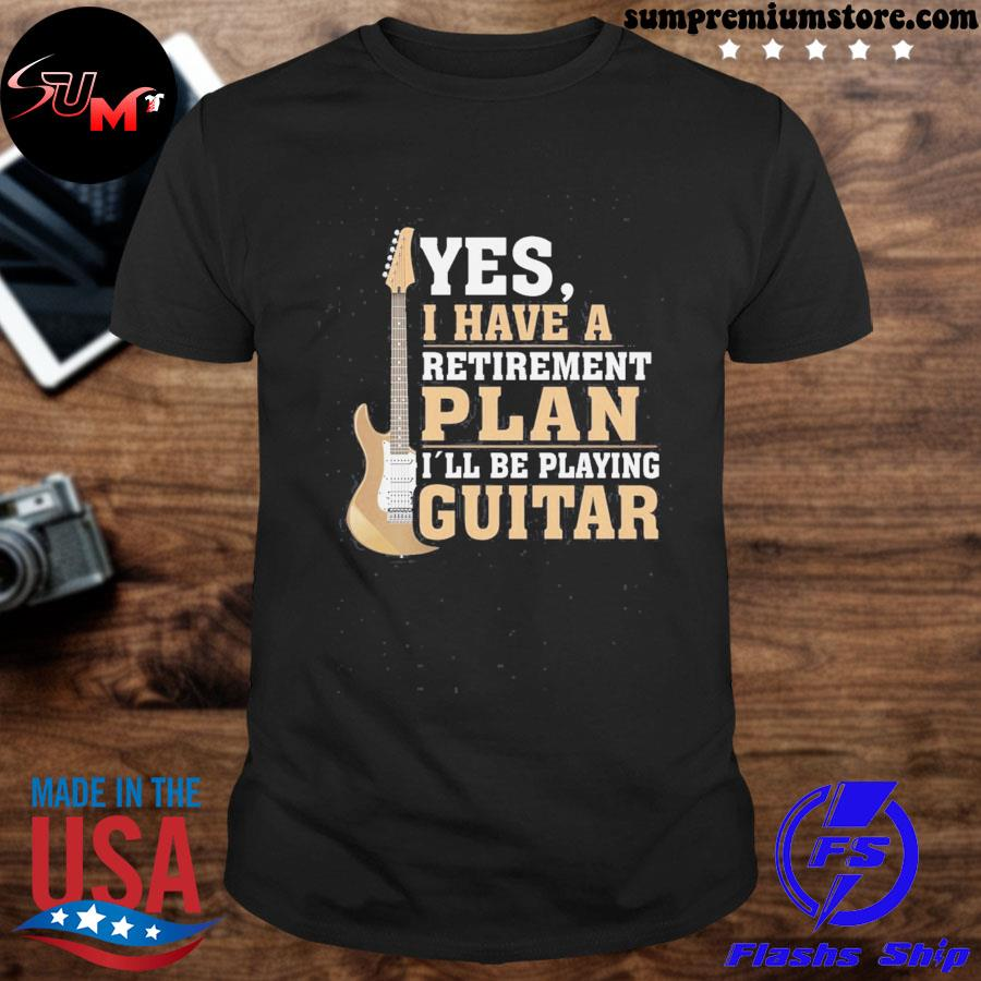 Official retired guitar player shirt rock and roll fathers day us 2021 t shirt