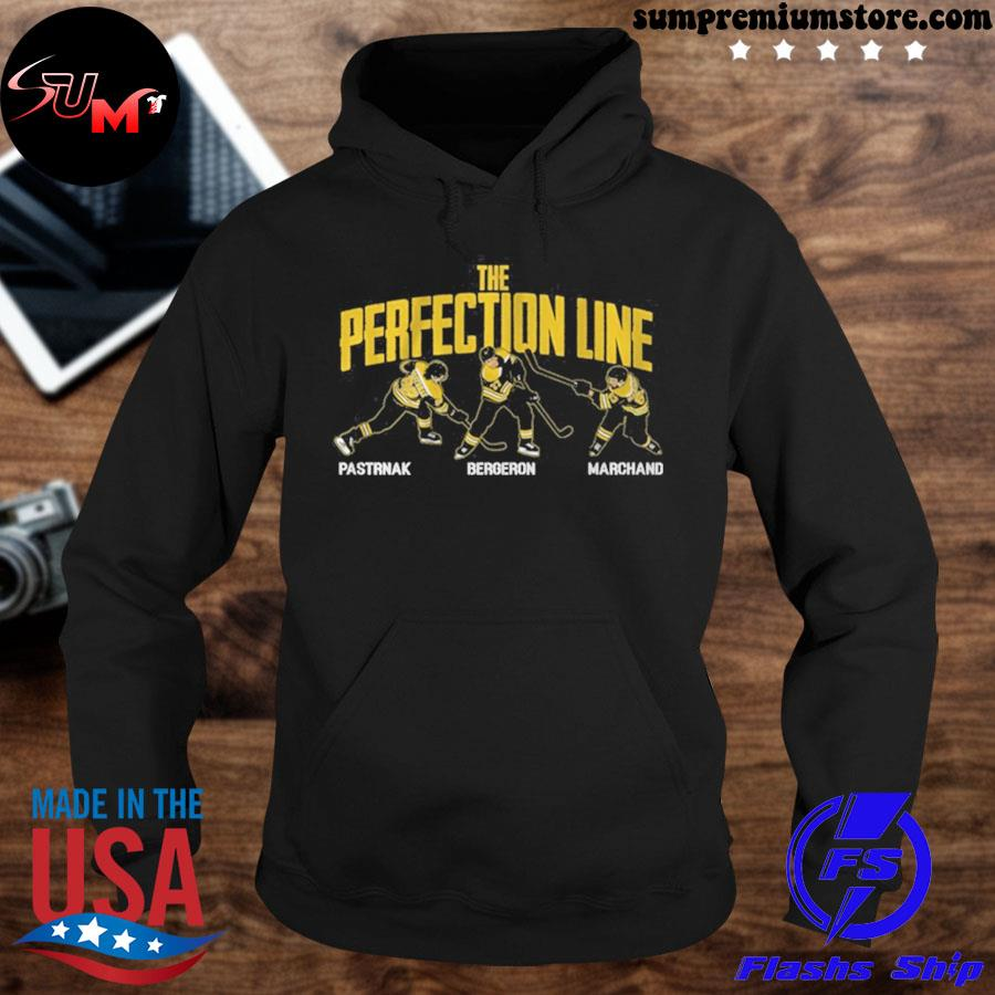 Pastrnak bergeron and marchand perfection line 2021 s hoodie-black