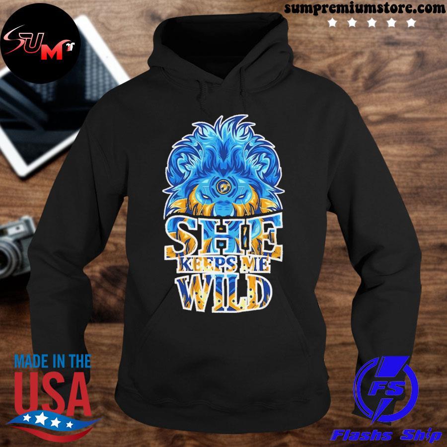 She keeps me wild ugly Christmas sweater hoodie-black
