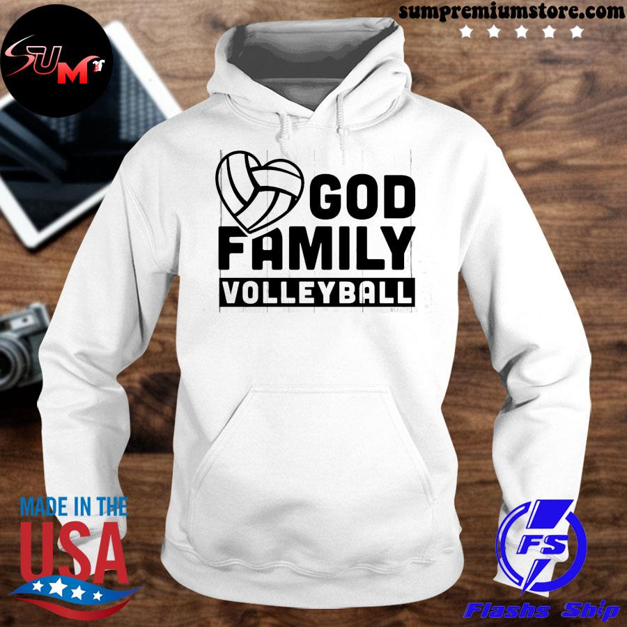 Volleyball god family volleyball s hoodhie-white