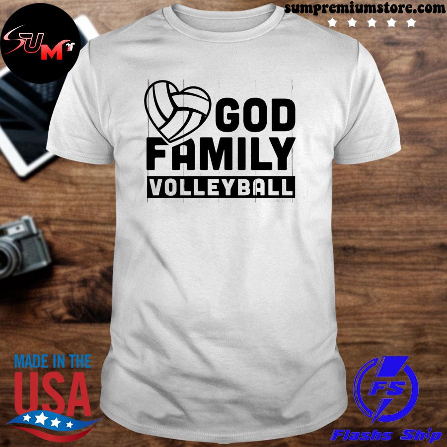 Volleyball god family volleyball shirt