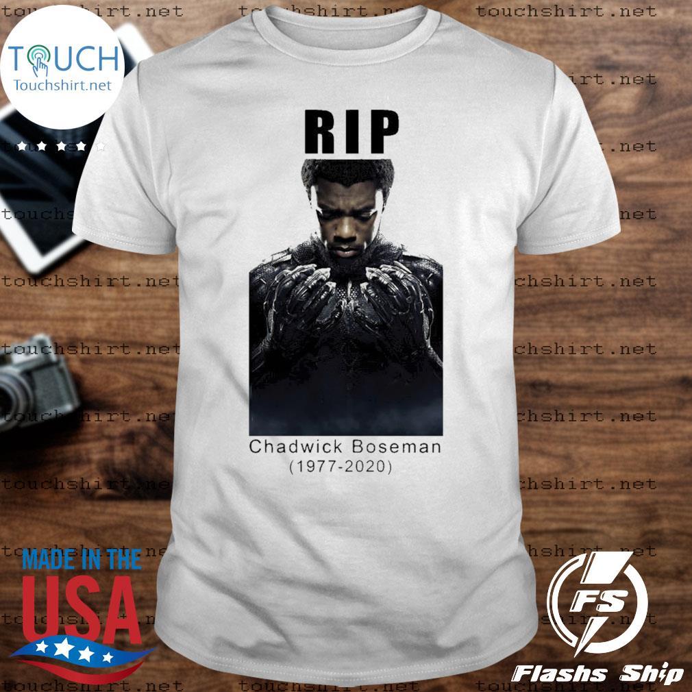 Chadwick Boseman rip 1977-2020 rest In peace shirt